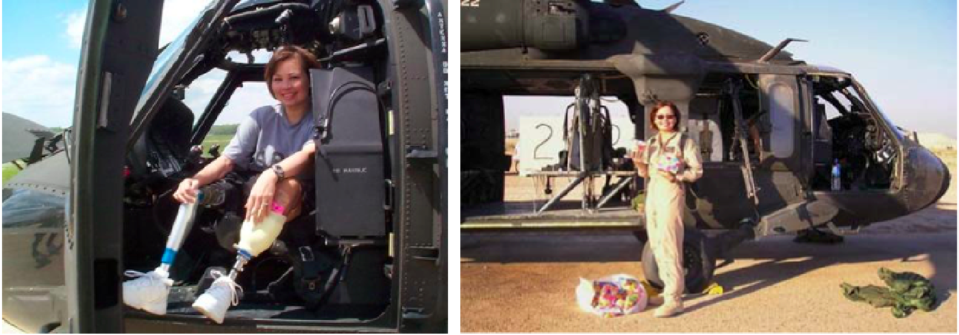 Tammy Duckworth in Black Hawk Helicopter