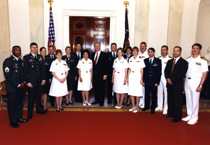 Dr. Mariano and White House Medical Unit at her promotion ceremony.
